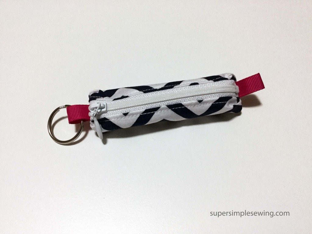 key ring zipper closed