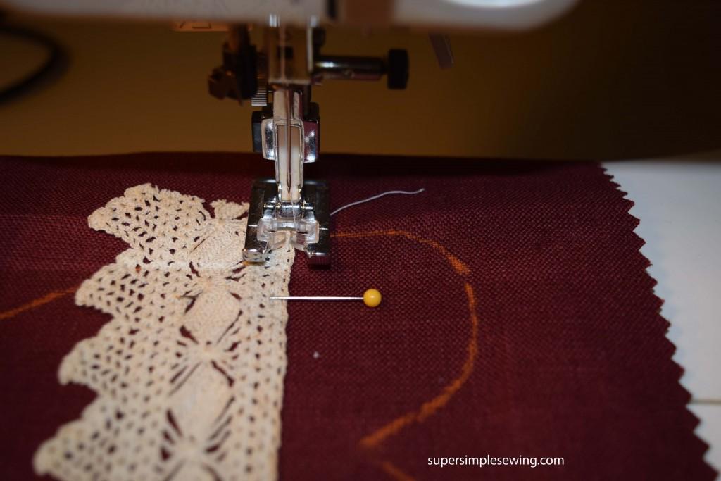sew lace