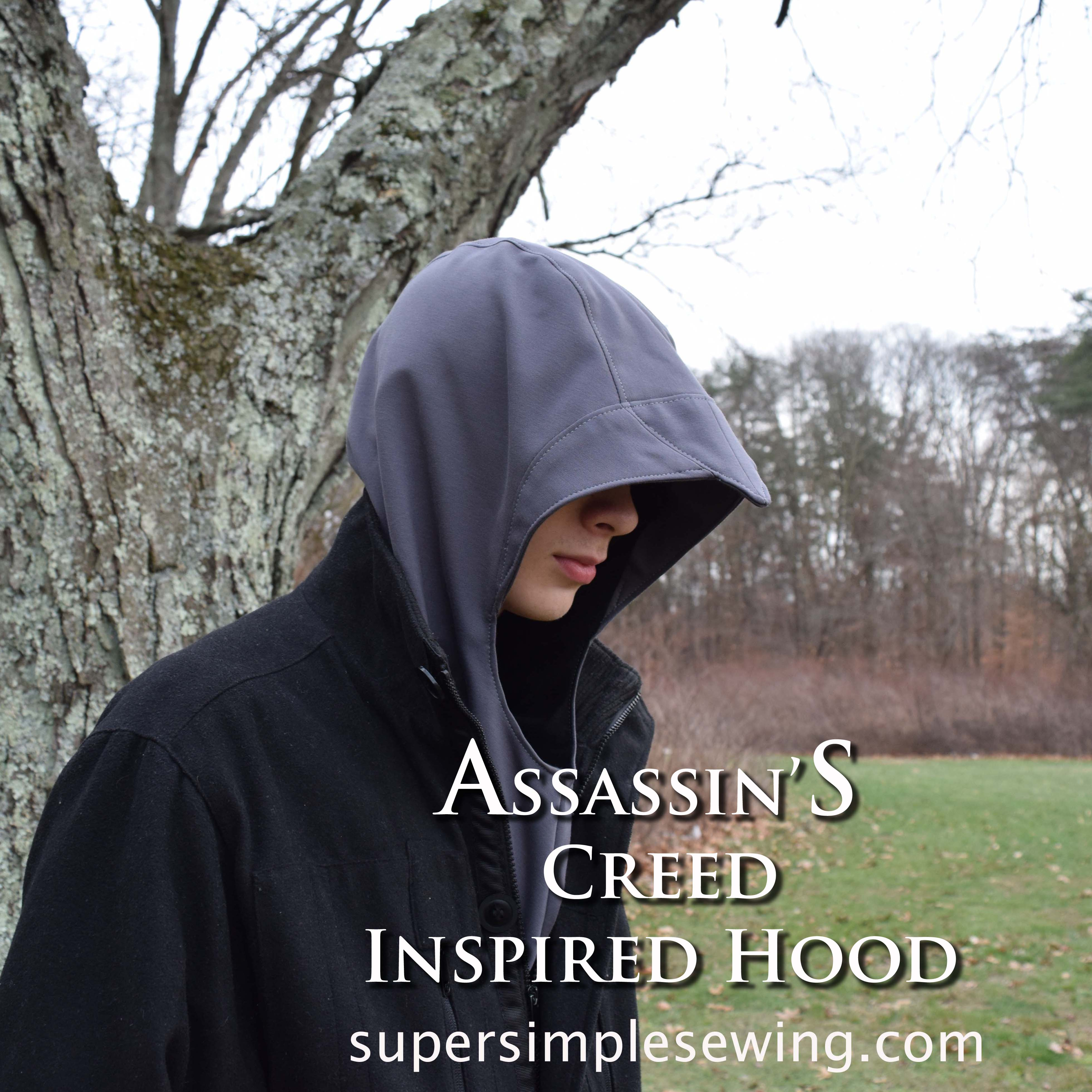 Creed inspired hood sewing pattern assassins creed inspired hood sewing pattern jeuxipadfo Images