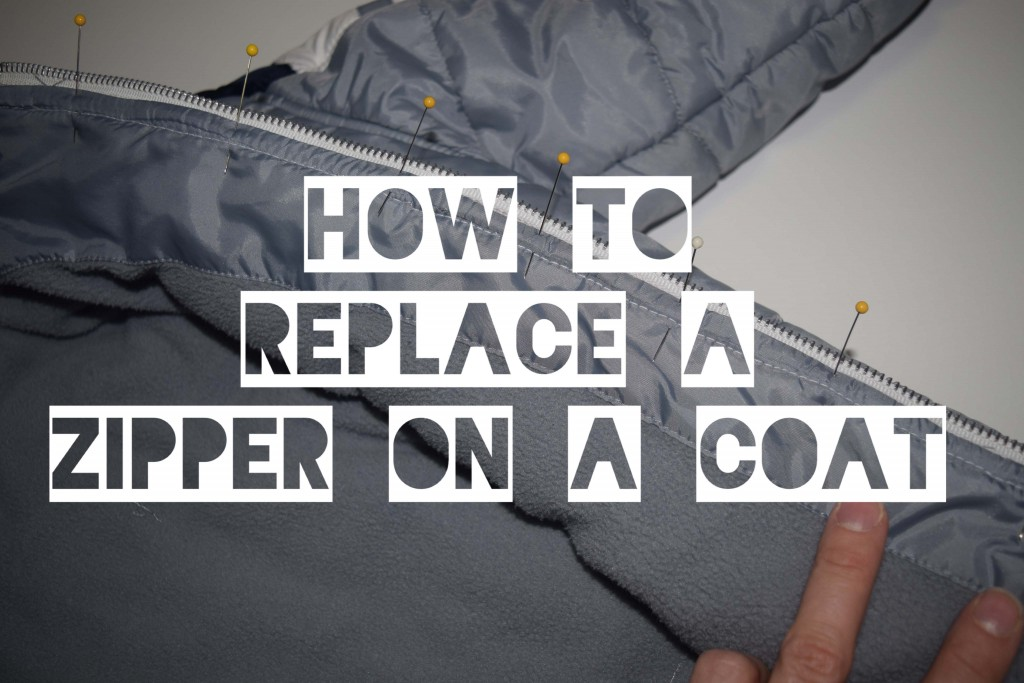 How to replace a zipper on a coat