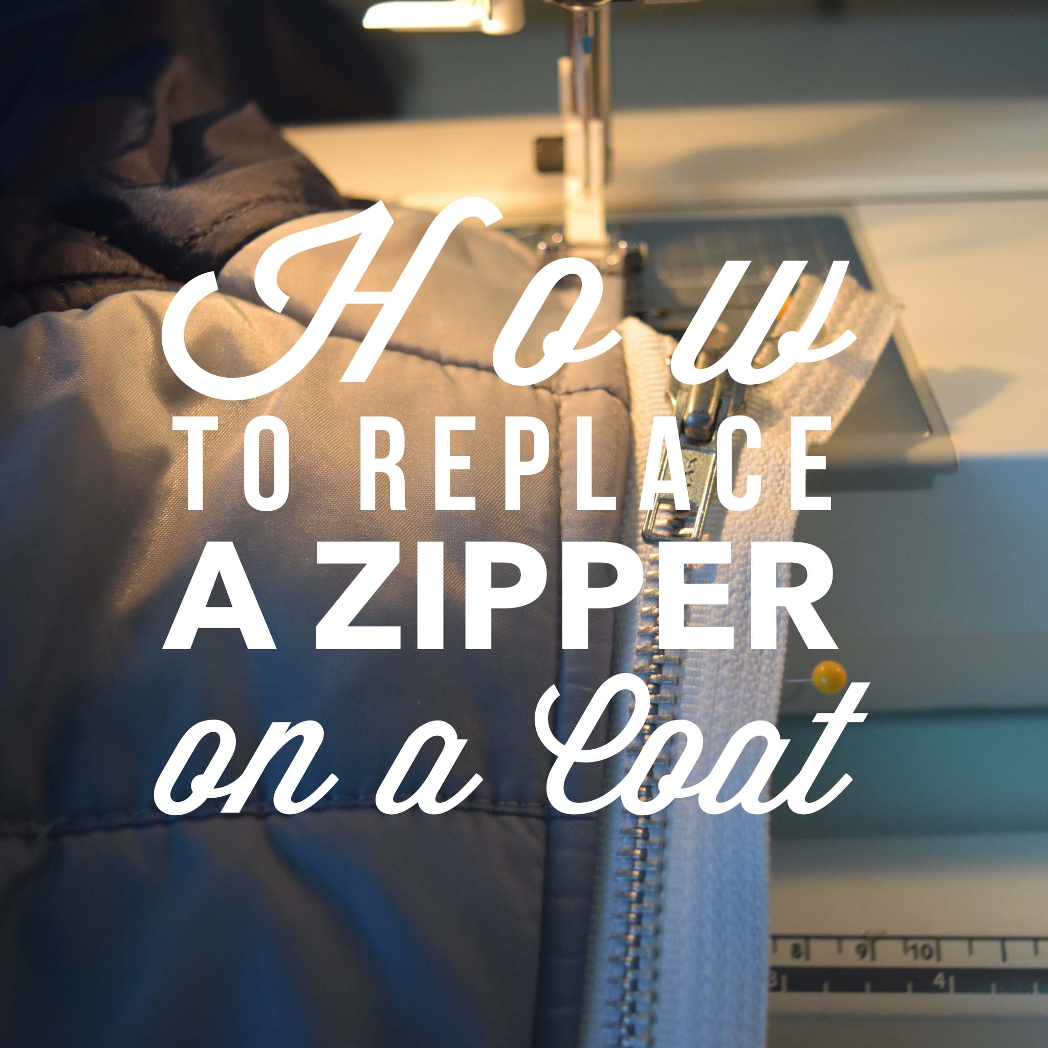 how to replace a zipper on a coat. Black Bedroom Furniture Sets. Home Design Ideas