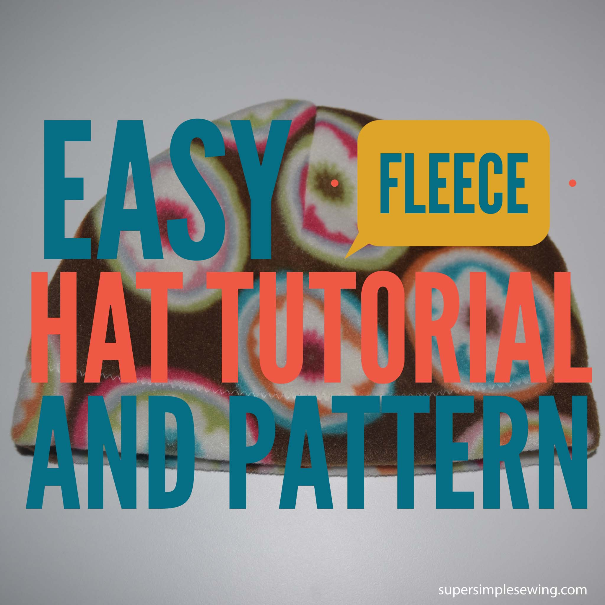 Easy Fleece Hat Tutorial and Pattern with Tips for Polar Fleece c7c4b600843