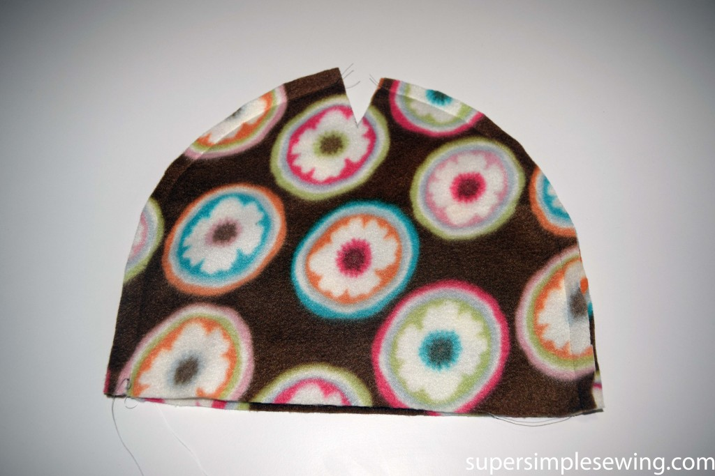 flecce hat sewn