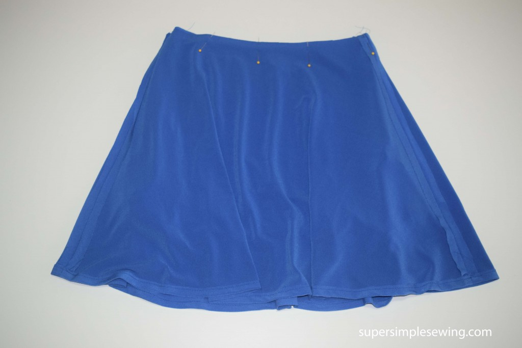 pin skirt to top